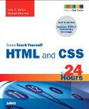 cover of Sams Teach Yourself HTML & CSS in 24 Hours