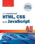 cover of Sams Teach Yourself HTML, CSS, & JavaScript All-in-One